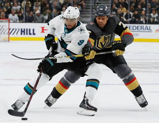 San Jose Sharks left wing Evander Kane and Vegas Golden Knights right wing Ryan Reaves aren't likely to be exchanging Christmas cards any time soon.
