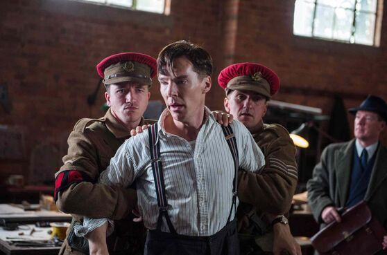 Benedict Cumberbatch, centre, in