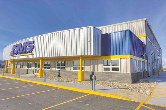 SMS Equipment is leasing this building on a five-acre lot within Brookside Business Park in CentrePort Canada.