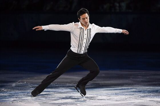 Men's silver medalist Patrick Chan performs in the figure skating closing gala at the Sochi Winter Olympics in Sochi, Russia, on February 22, 2014. The 24-year-old from Toronto is taking this season off to kick back and contemplate his future, and said the biggest thing he's learned thus far is perspective. THE CANADIAN PRESS/Paul Chiasson