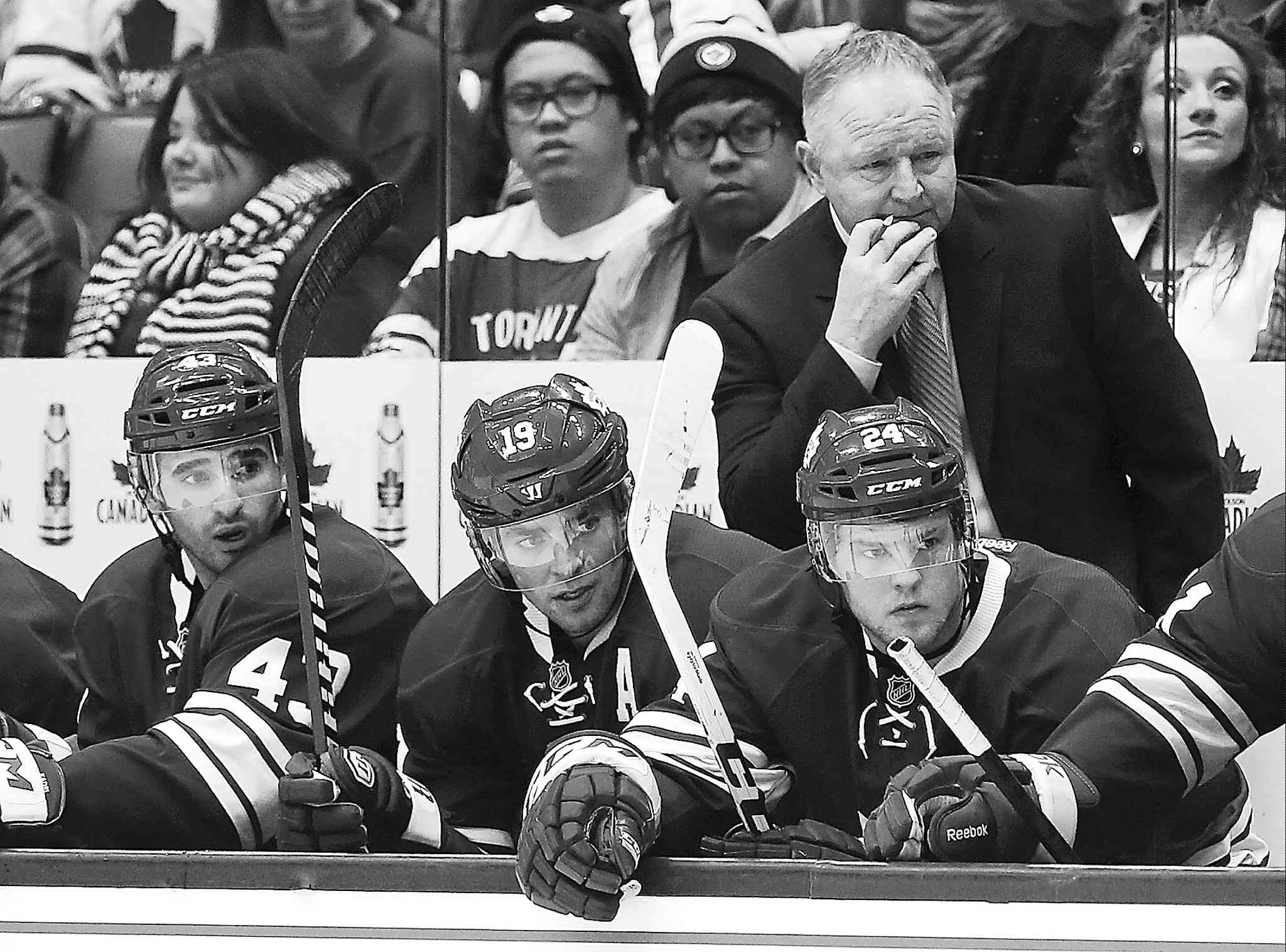Toronto Maple Leafs coach Randy Carlyle should get a better effort from his troops tonight at the MTS Centre.