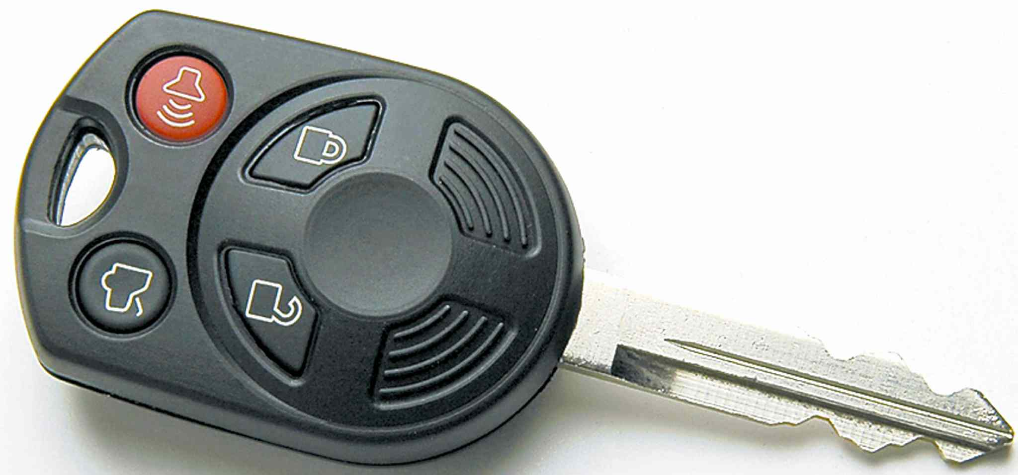 In this undated photo provided by Ford Motor Co., of a MyKey. Starting next year, Ford Motor Co. will roll out a new feature, controlled by a computer chip in the key, that allows parents to limit the car's speeds to 80 mph and set a maximum volume for the audio system on some 2010 models. (AP Photo/Ford Motor Co.)**NO SALE close cut closecut