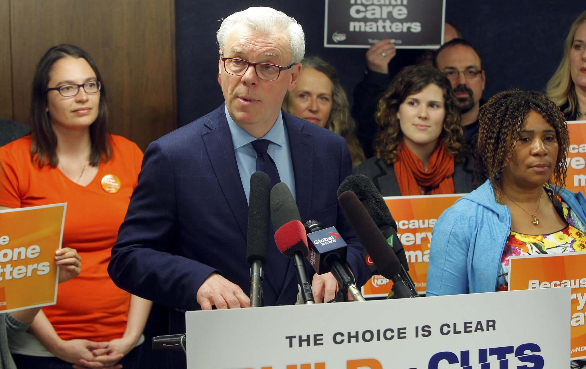 BORIS MINKEVICH / WINNIPEG FREE PRESS</p><p>NDP Leader Greg Selinger stepped down after the party was trounced in the election by the Progressive Conservatives.</p>