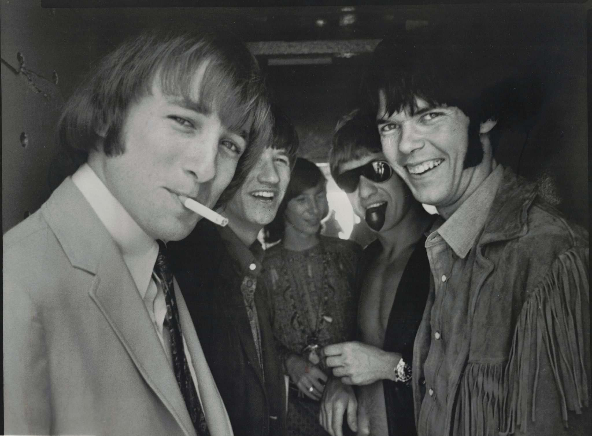 Buffalo Springfield in July 1966. Stephen Stills is at left and Neil Young is at right.</p></p></p>