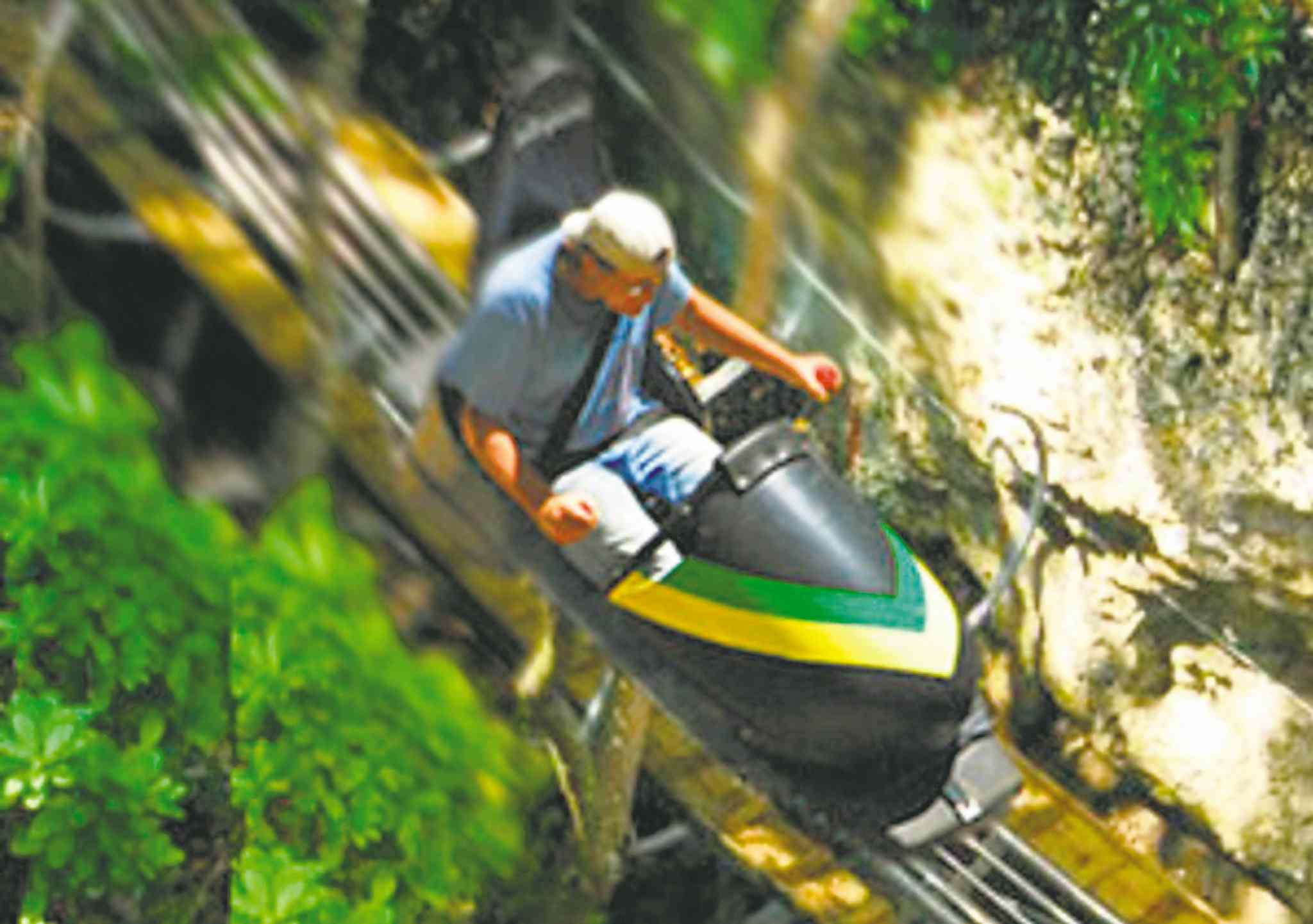 Bobsled Jamaica is a thrill-ride at Rainforest Adventures Mystic Mountain in Jamaica.
