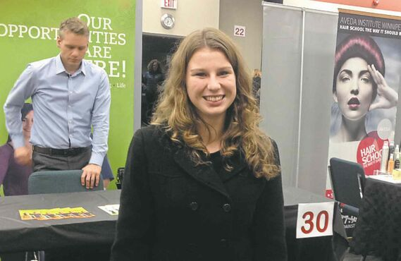 Rayna Powell, a Grade 12 student at J.H. Bruns Collegiate, appreciated the chance to explore career options at Louis Riel School Divisions CAPS Symposium.