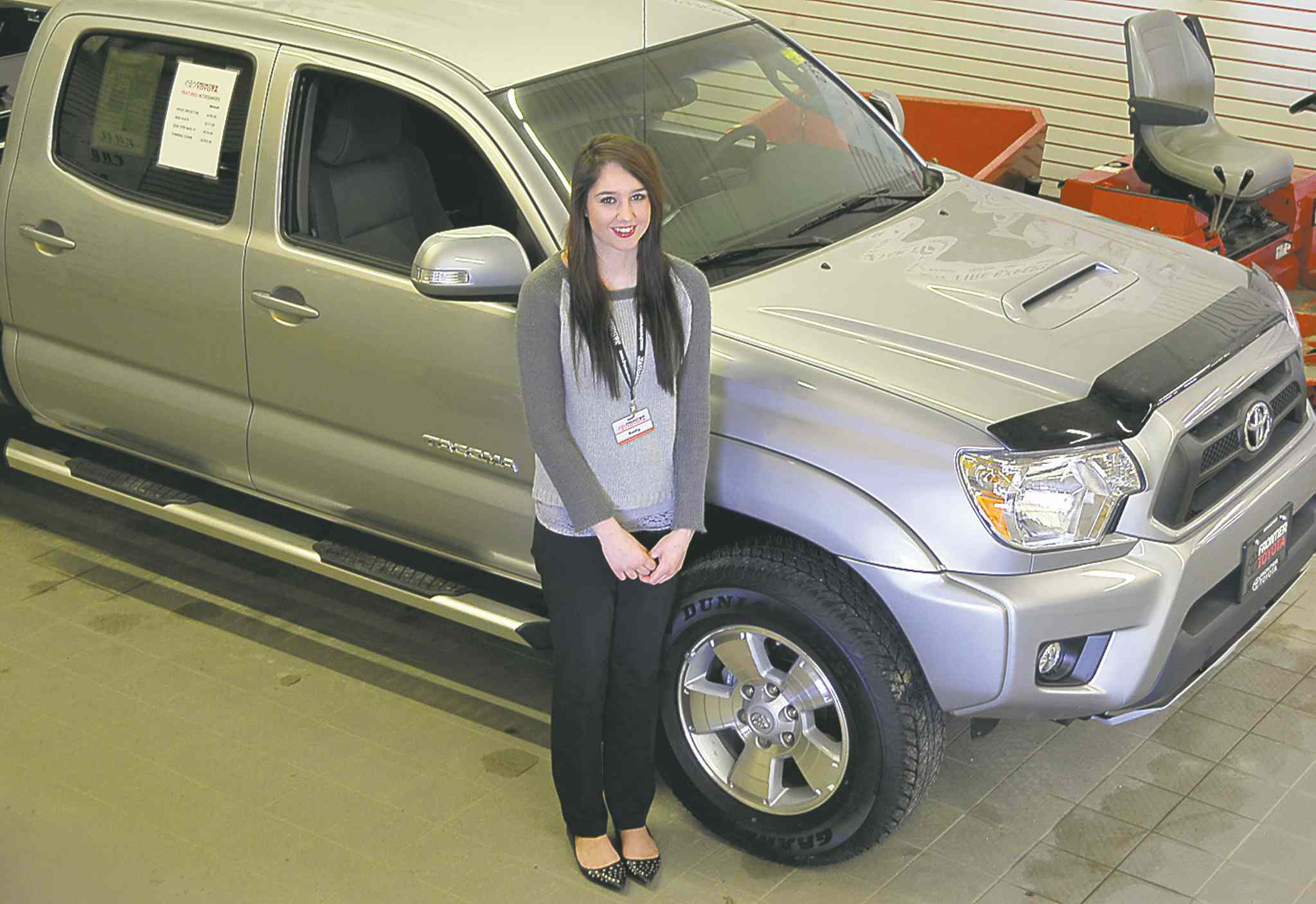 Receptionist Reilly Fortescue says the environment at Frontier Toyota is very positive.