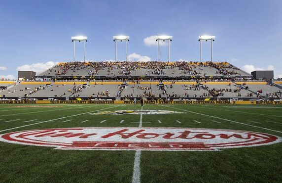 Hamilton Tiger-Cats fans leave the east grandstand following the annual CFL Labour Day Classic against the Toronto Argonauts and the inaugural game at the new Tim Hortons Field in Hamilton, Ont., Monday, September 1, 2014. THE CANADIAN PRESS/Aaron Lynett