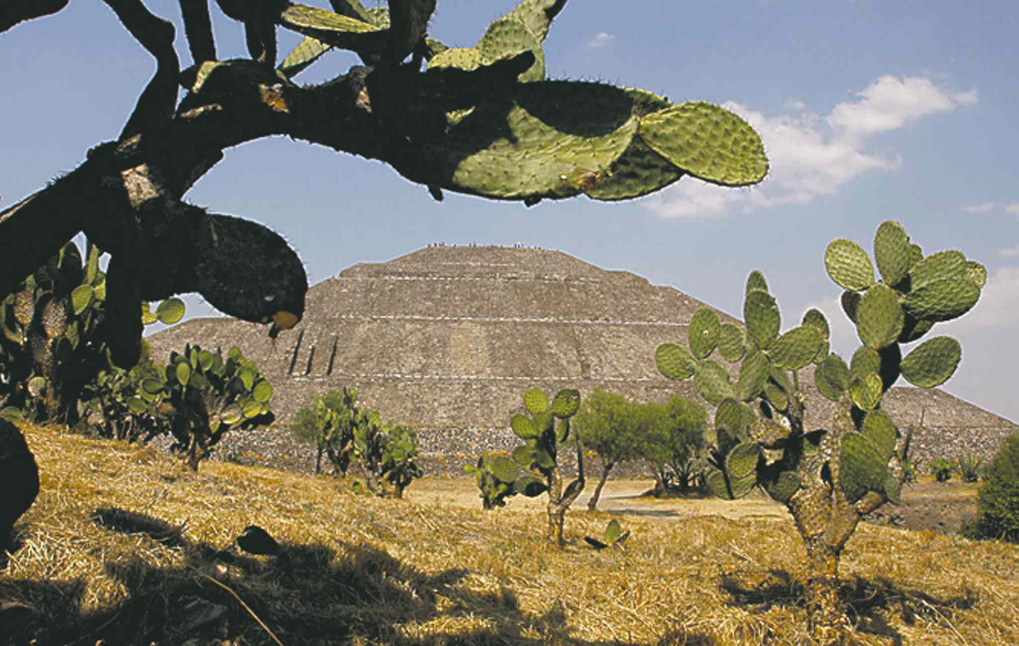 Pyramid of the Sun at the archaeological site of Teotihuacan.