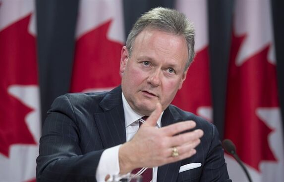 Bank of Canada Governor Stephen Poloz holds a news conference on the Bank of Canada's decision to reduce the overnight rate, Wednesday, January 21, 2015 in Ottawa. The looming economic threat of sliding oil prices is forcing the Bank of Canada to unexpectedly cut its trend-setting rate to three quarters of a percentage point from one per cent. THE CANADIAN PRESS/Adrian Wyld