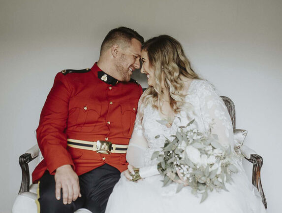 Myron and Brittney Mosquin, whose wedding inspired this story. (Michelle Elizabeth photo)