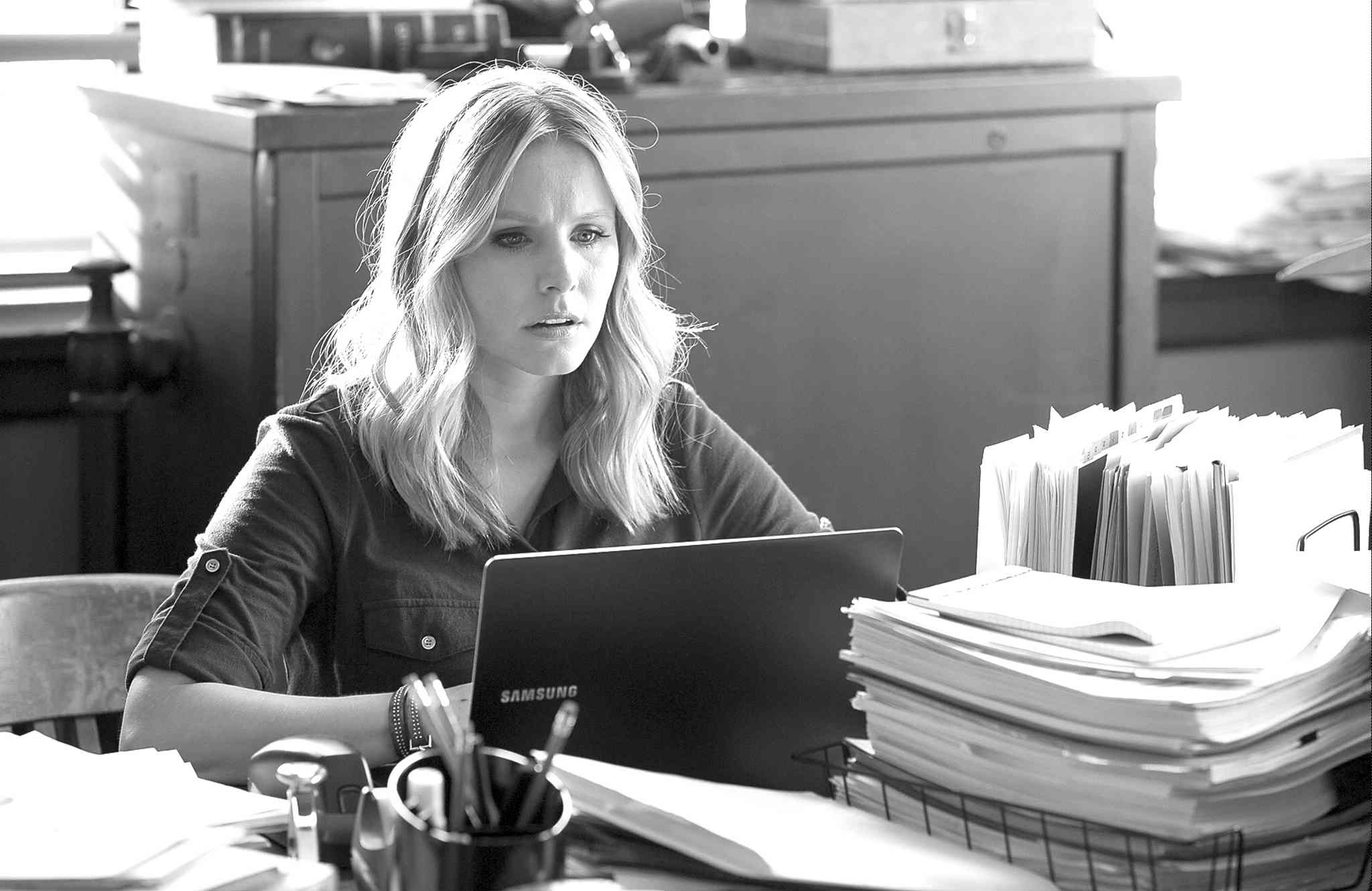 Kristen Bell in a scene from the film Veronica Mars (Robert Voets / Warner Bros. Pictures, The Associated Press)