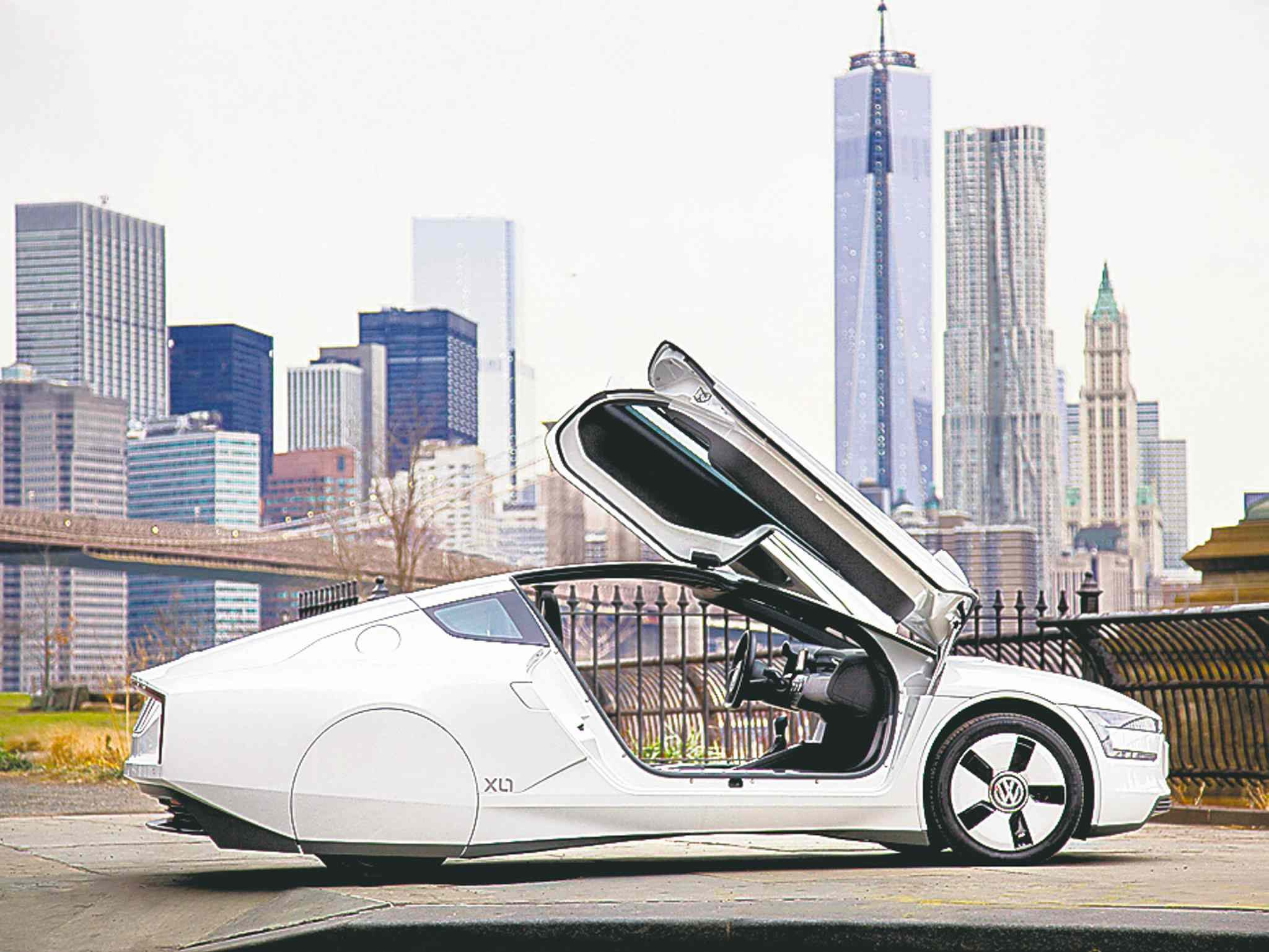 Getting inside is a matter of gliding through its gull-wing doors.
