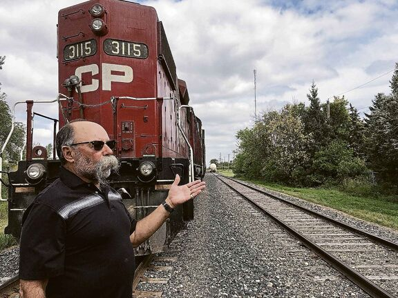 Al Donahue lives on Southall Drive and says CP trains are left idling for days in his neighbourhood.