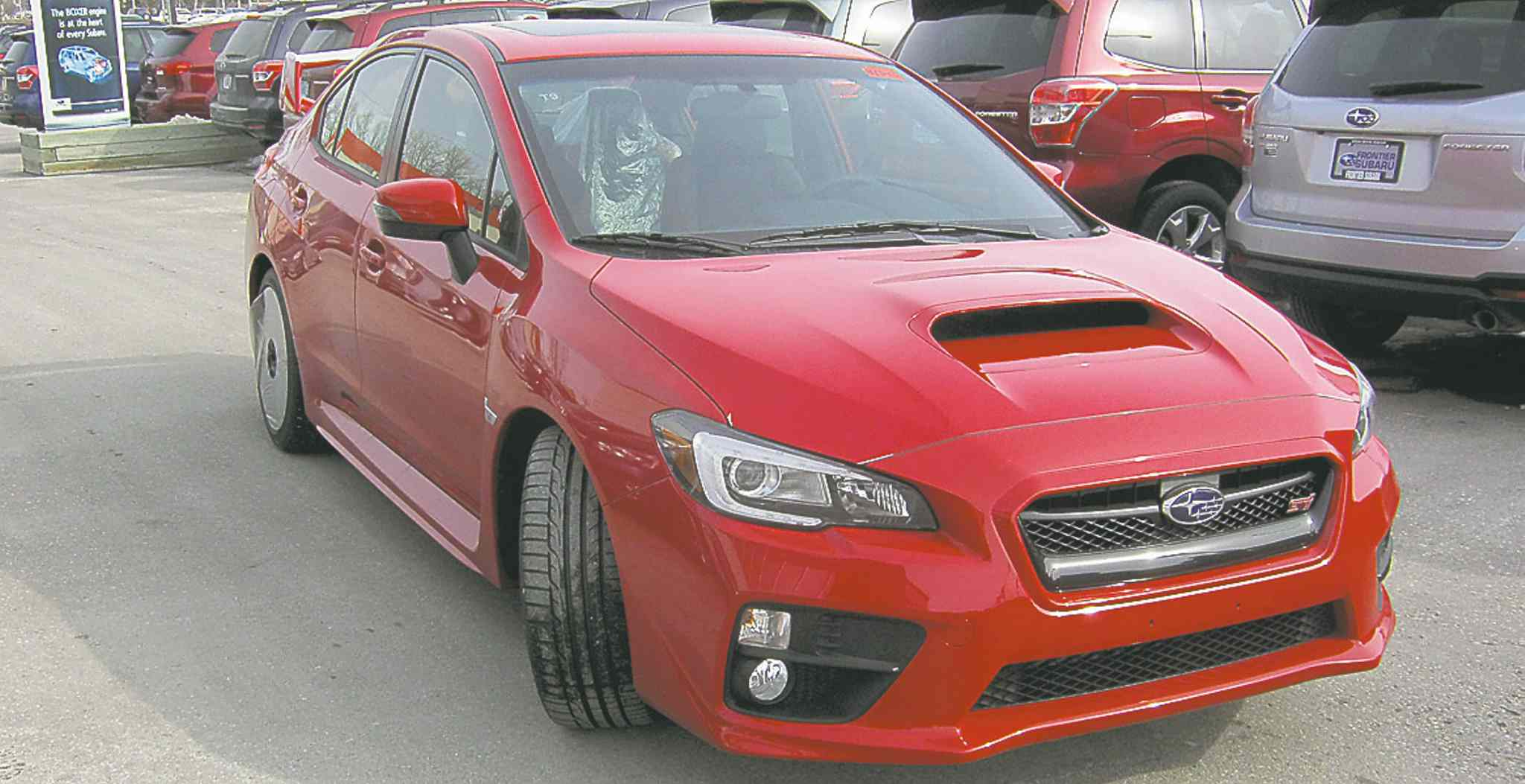 The 2015 WRX STI offers standard features that include push-button start and a back-up camera.