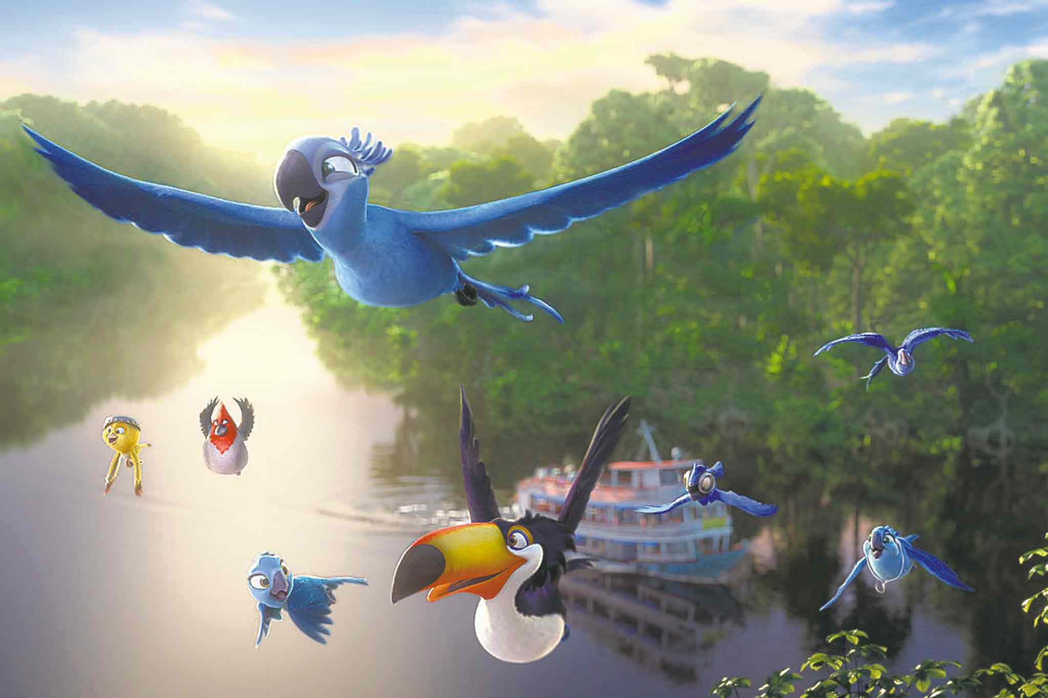 Rio 2 abandons the overall quality of the first film and tries to make up for it with kid-pandering humour.