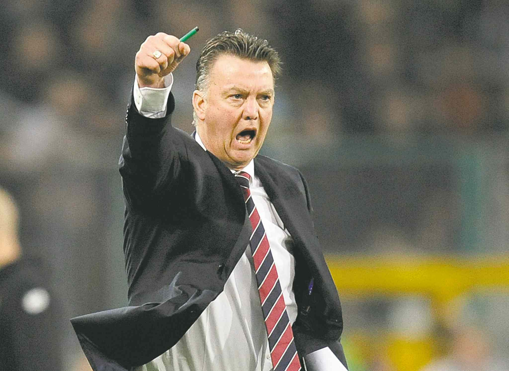 Louis van Gaal of the Netherlands is pegged by many to take over the reins at Manchester United next season.
