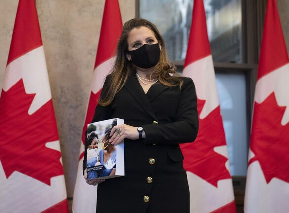 Almost everything in Chrystia Freeland's Budget 2021 is contingent, writes Star business columnist David Olive, on factors from a hoped-for post-pandemic economic boom to cooperation from provinicial governments of proposed programs