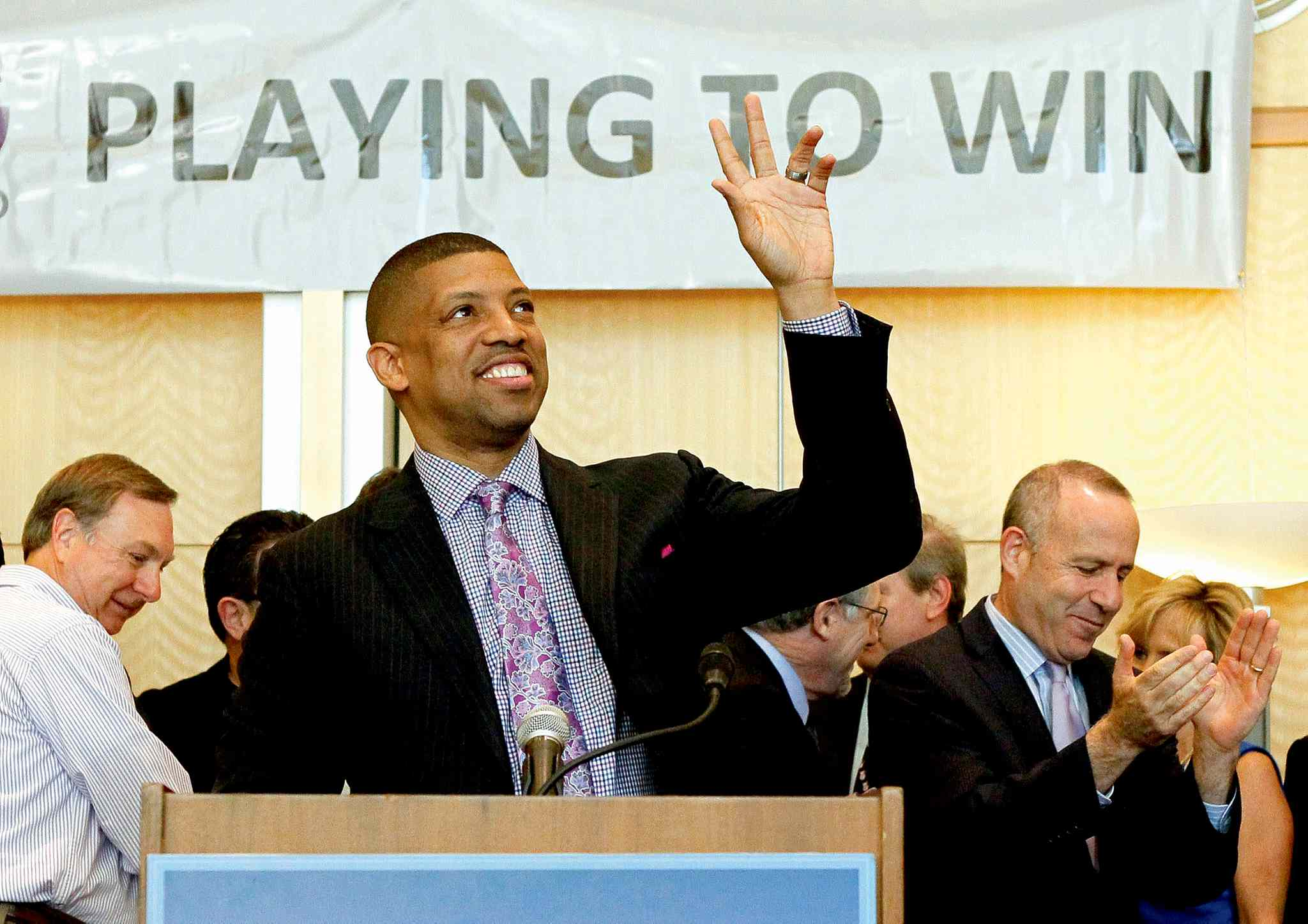 Former NBA all-star and Sacramento mayor Kevin Johnson campaigned hard to keep the Kings in Sacramento (top). He lobbied just as hard to get rid of Donald Sterling after the L.A. Clippers owner disparaged African Americans during a phone conversation that was recorded and made public.