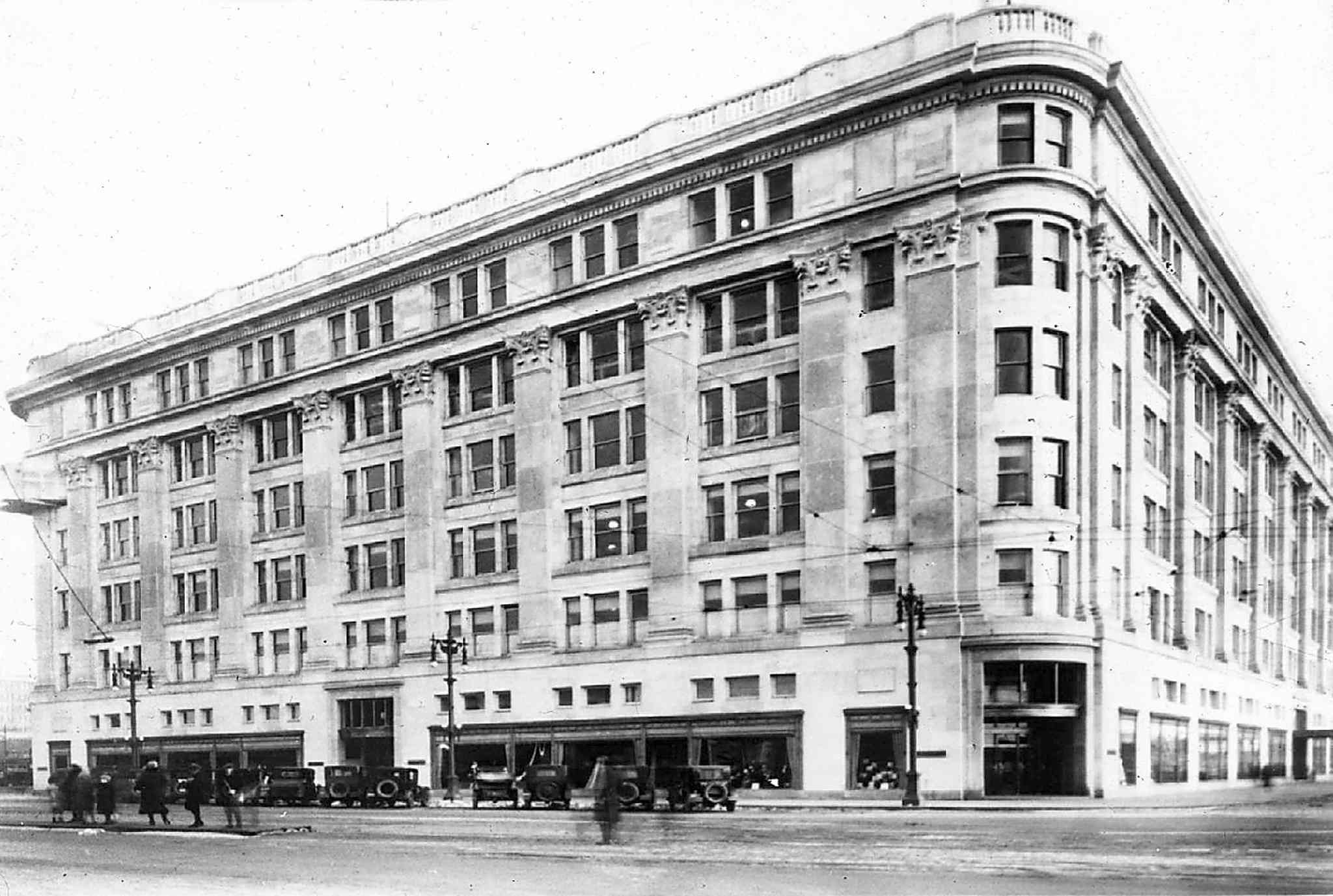 The downtown Hudson Bay building
