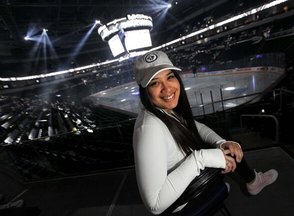PHIL HOSSACK / WINNIPEG FREE PRESS</p><p>New Jets fan Ashley Richard makes friends everytime she wears her Whiteout gear in public. She used to be indifferent towards the Jets until she caught playoff fever. </p></p>