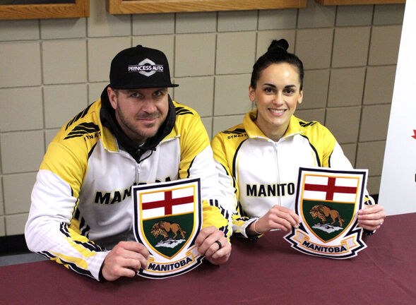 Derek Samagalski and Krysten Karwacki captured the provincial mixed doubles curling championship last February. (Thomas Friesen / The Brandon Sun files)