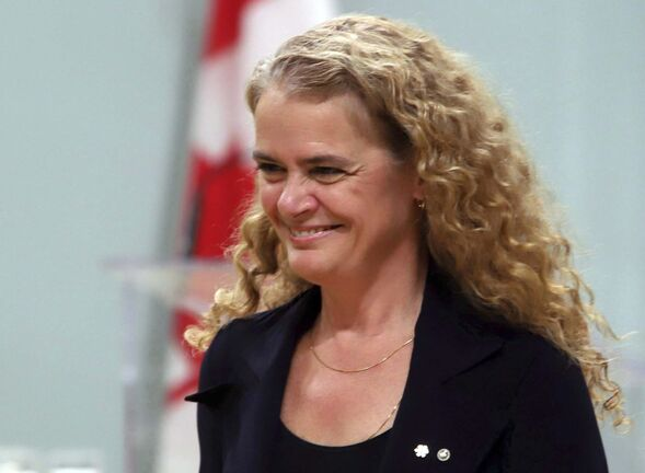 <p>Governor General Julie Payette at Rideau Hall, the official residence of the Governor General of Canada, in Ottawa in 2017.</p>