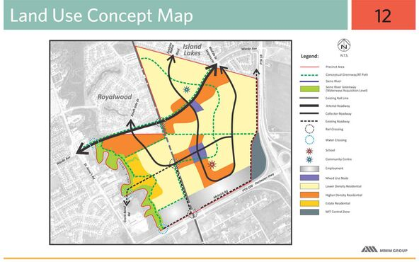 Precinct K land use, as depicted in the Precinct K Precinct Plan document distributed at a public open house on March 5, 2014.
