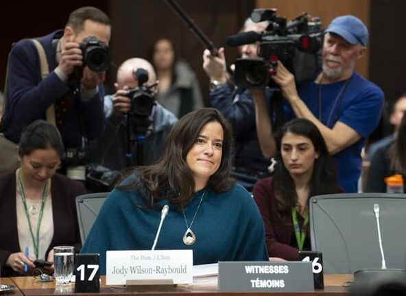 Former justice minister Jody Wilson-Raybould testifies about the SNC-Lavalin controversy last week. (Adrian Wyld / The Canadian Press files)