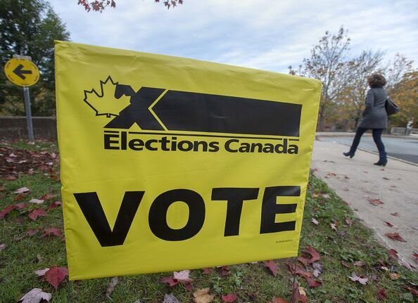 Andrew Vaughan / The Canadian Press files</p><p>Forty per cent of eligible voters did not cast a ballot in Monday's election, the second-lowest turnout recorded for a federal election.</p>