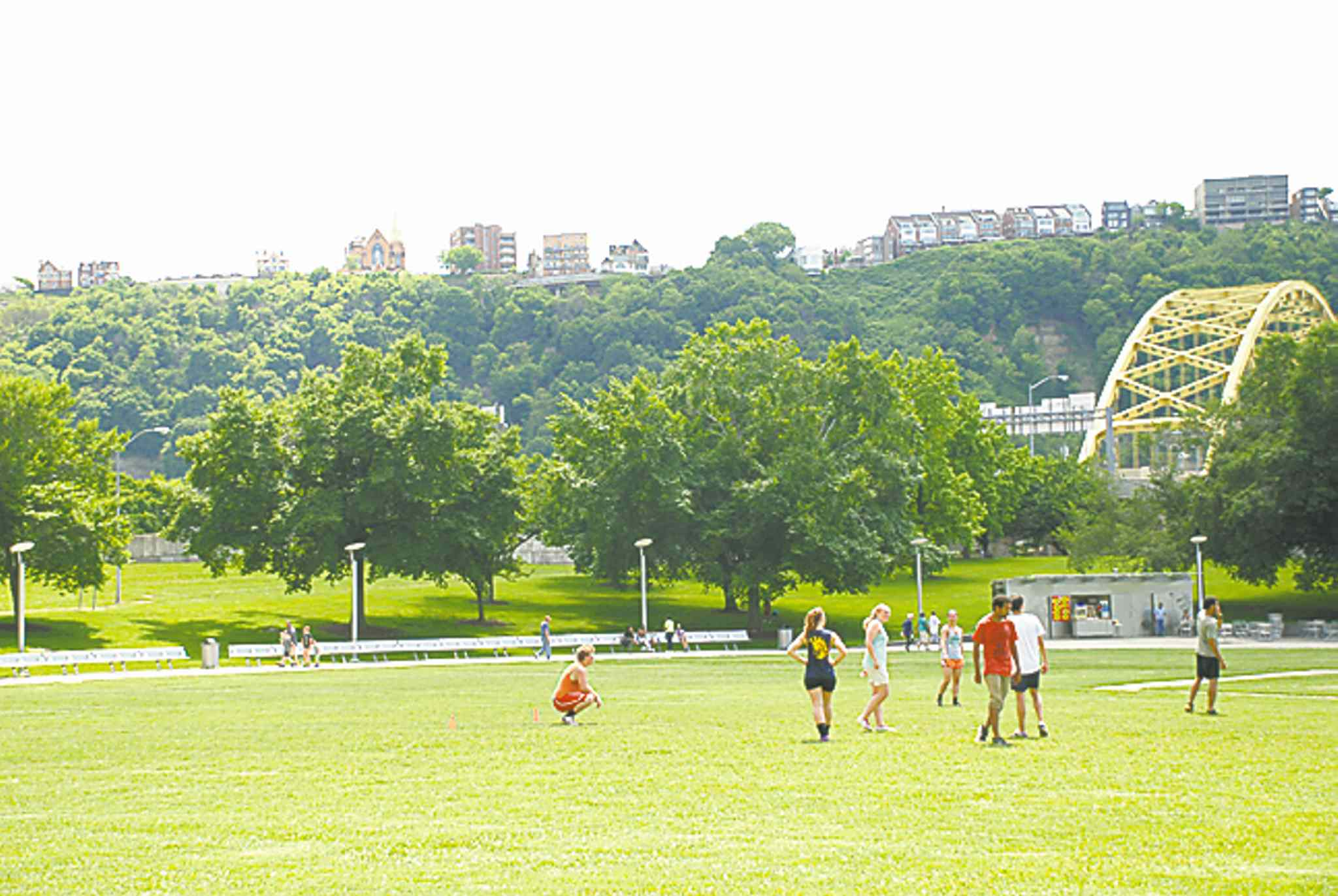 Pittsburgh is a green city with loads of parks, valleys and bridges.