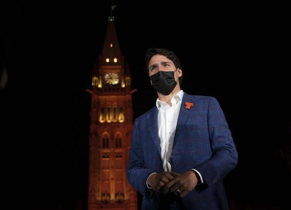 Adrian Wyld / The Canadian Press</p><p>Prime Minister Justin Trudeau attended a ceremony in Ottawa on Wednesday evening.</p>