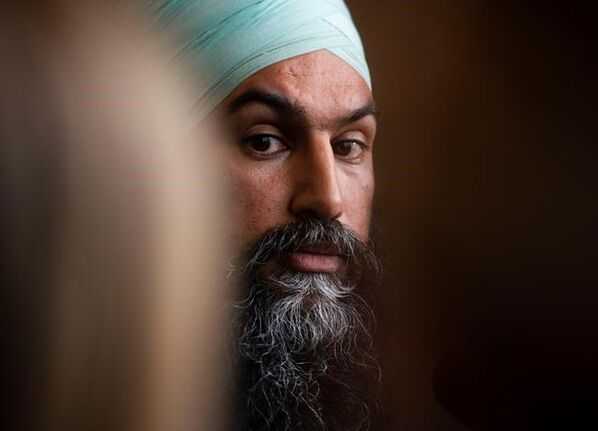 NDP leader Jagmeet Singh challenged the federal Liberal government to drop its appeal of the tribunal's decision. (Sean Kilpatrick / The Canadian Press files)