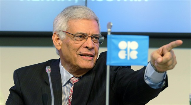 Secretary General of OPEC Abdalla Salem El-Badri of Libya gestures after a meeting of the Organization of the Petroleum Exporting Countries, OPEC, at their headquarters in Vienna, Austria, Thursday Nov. 27, 2014. As crude prices have shifted into a lower gear, so too has demand for posh rides in Alberta's oilpatch energy industry customers. THE CANADIAN PRESS/AP, Ronald Zak
