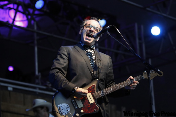 Elvis Costello live in concert at the Winnipeg Folk Festival.  (BORIS.MINKEVICH@FREEPRESS.MB.CA)