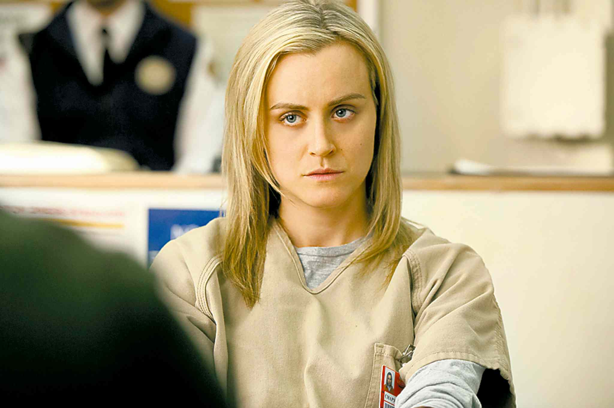 Taylor Schilling stars in Orange is the New Black on Netflix;