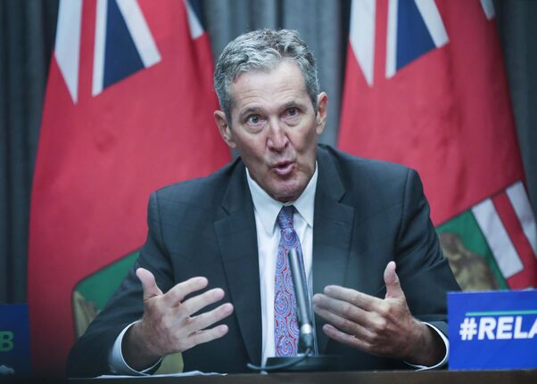 RUTH BONNEVILLE / WINNIPEG FREE PRESS  Local - Labour force statistics presser  Premier Brian Pallister hold presser on the latest labour force statistics at the legislative building Friday.   Aug 7th, 2020
