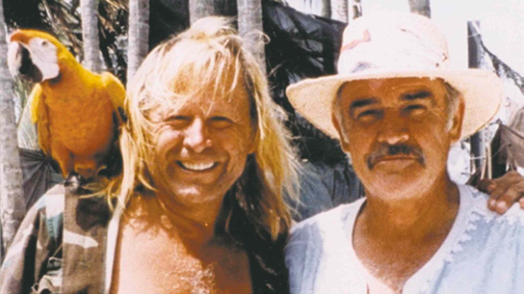 Peter Nygård with actor Sean Connery, part of a group of celebrity landowners suing the Bahamian government.