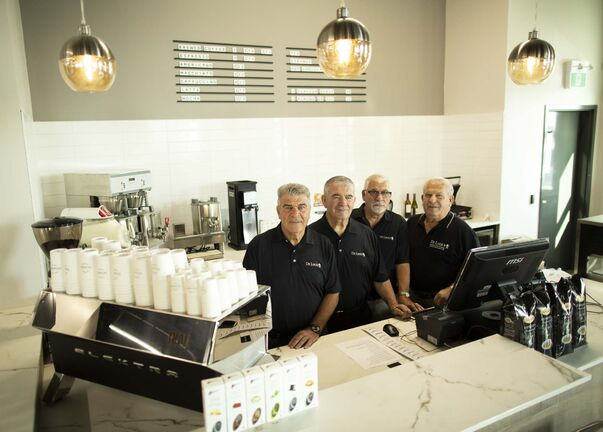 ANDREW RYAN / WINNIPEG FREE PRESS</p><p>The original four De Luca brothers, Peter, Tony, Frank and Pasquale, at their newest location.</p></p>