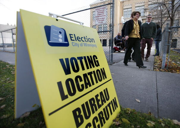 A polling station in the 2014 election. THE CANADIAN PRESS/John Woods