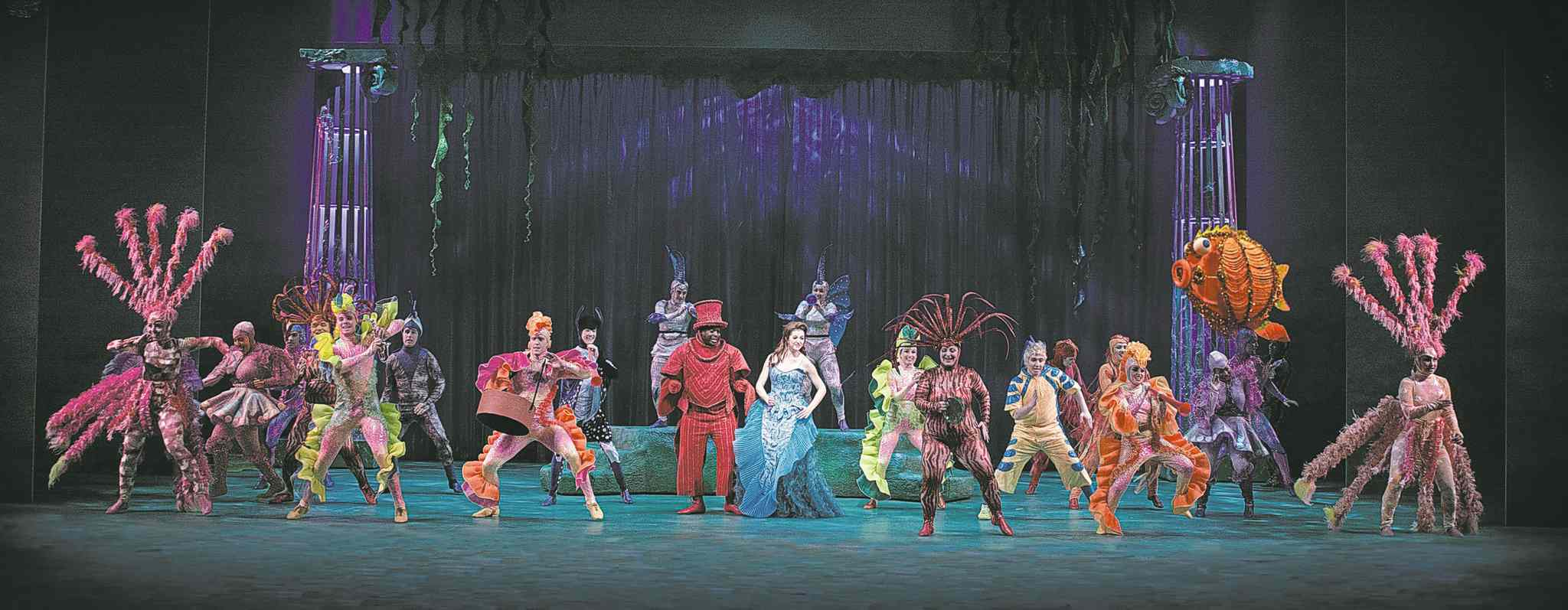 The colourful cast of Disney's The Little Mermaid will make audiences feel as if they're in an aquarium of exotic sea creatures