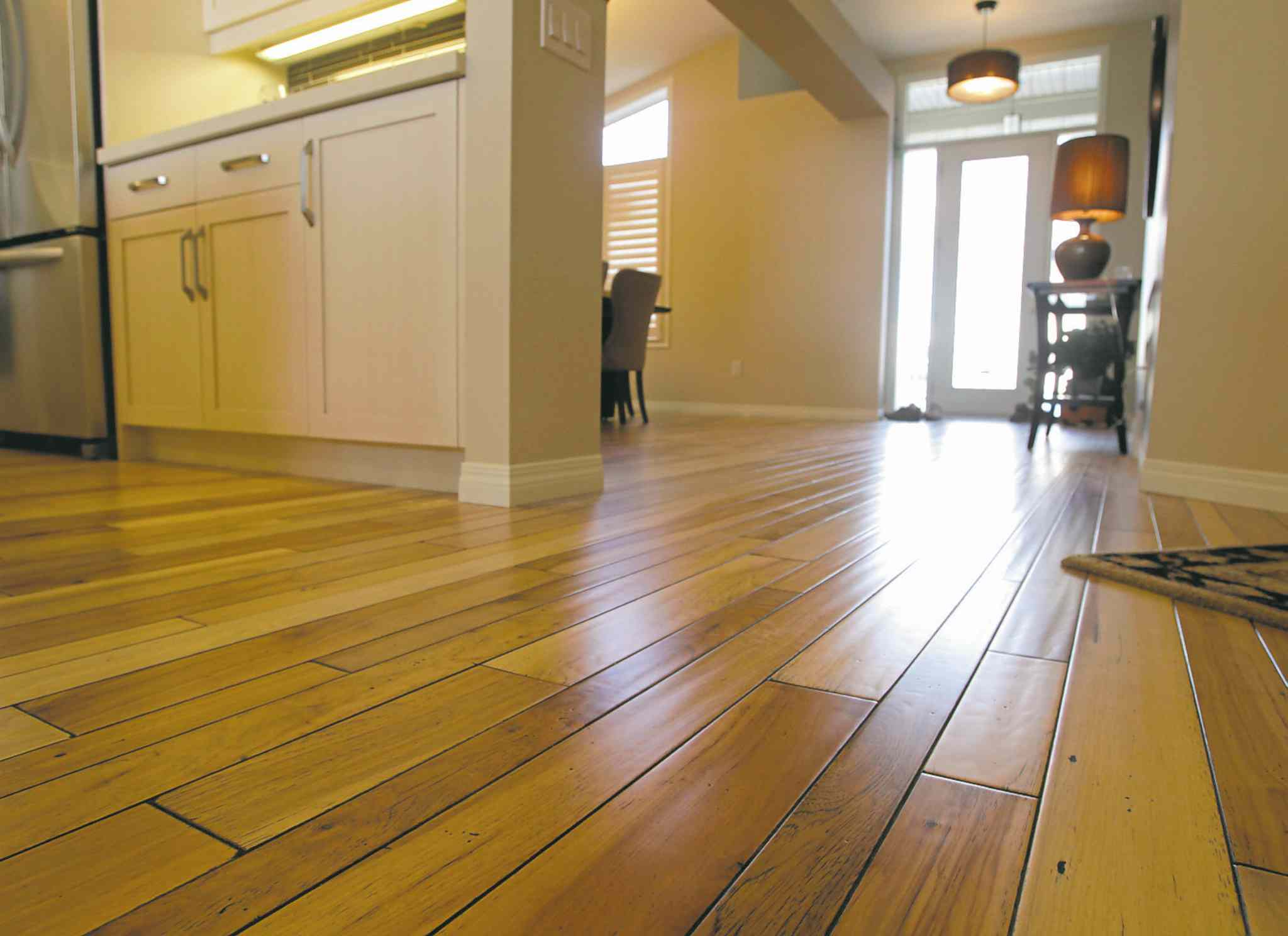 Windex can be effective when cleaning hazy hardwood floors.