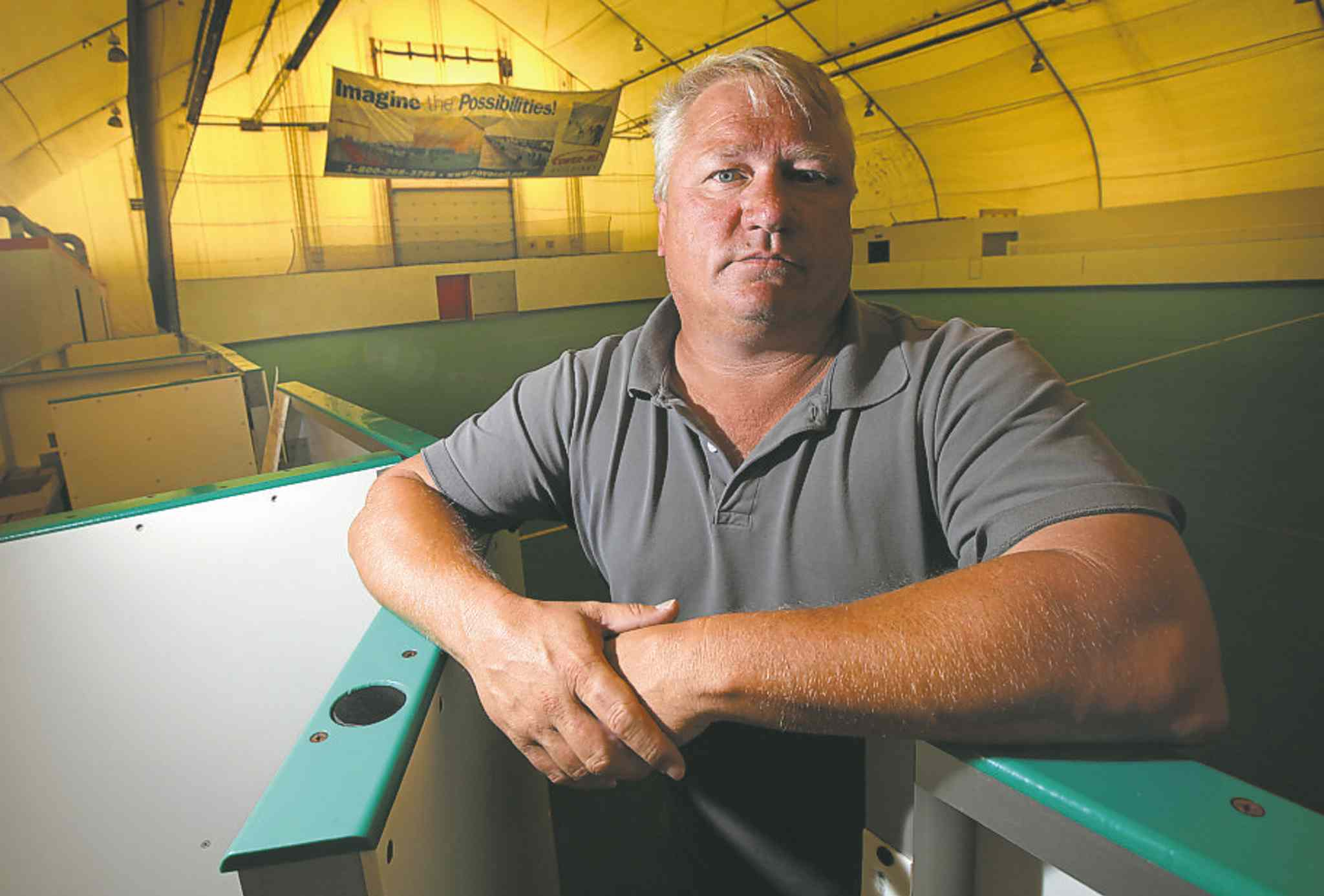 Neil Hiebert has found a new home in Minnedosa for the soccer boards.