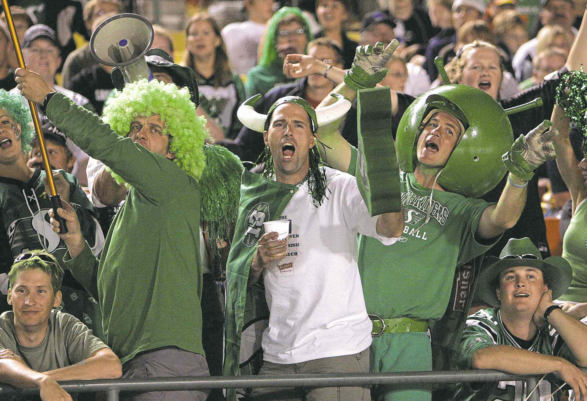 The melonheads and banjo pluckers will be out in full force today at Mosiac Stadium as their Green riders host the Blue Bombers.