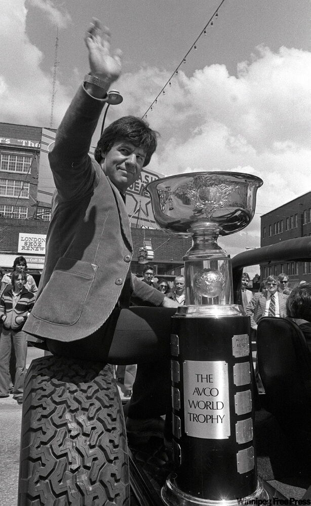 On May 22, 1979, Jets captain Lars-Erik Sjoberg rode with the Avco Cup for the team's third victory parade on Portage Avenue.