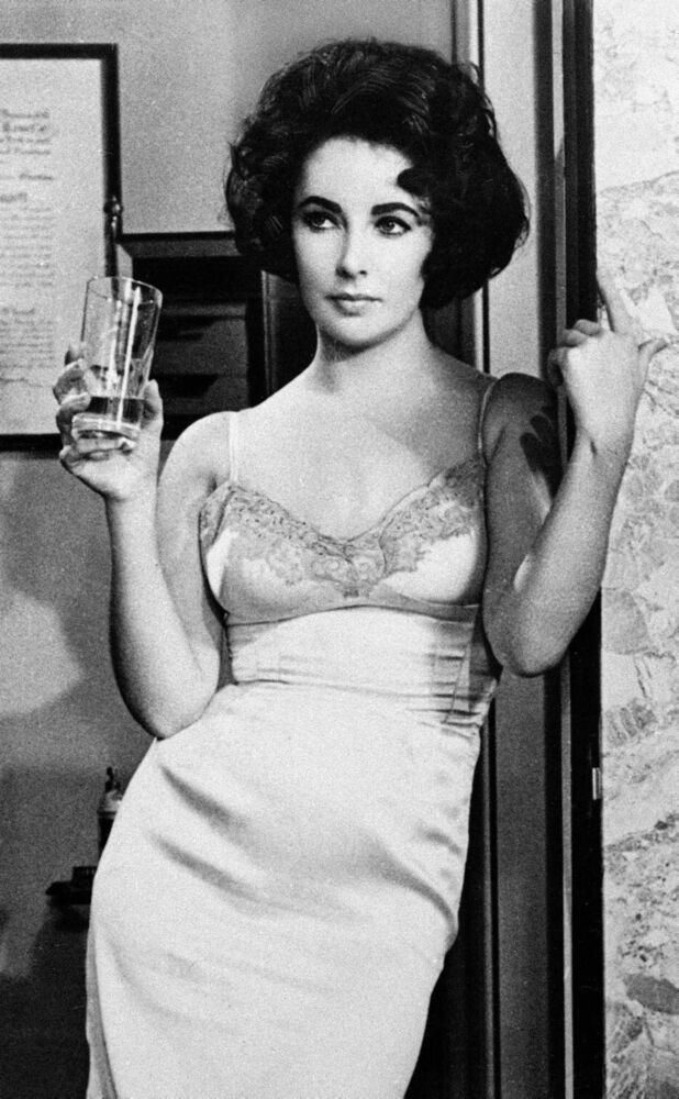 This 1961 file photo shows actress Elizabeth Taylor in the film