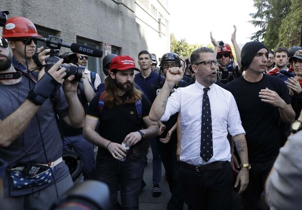 Marcio Jose Sanchez / The Associated Press Files</p><p>Proud Boys founder Gavin McInnes</p>