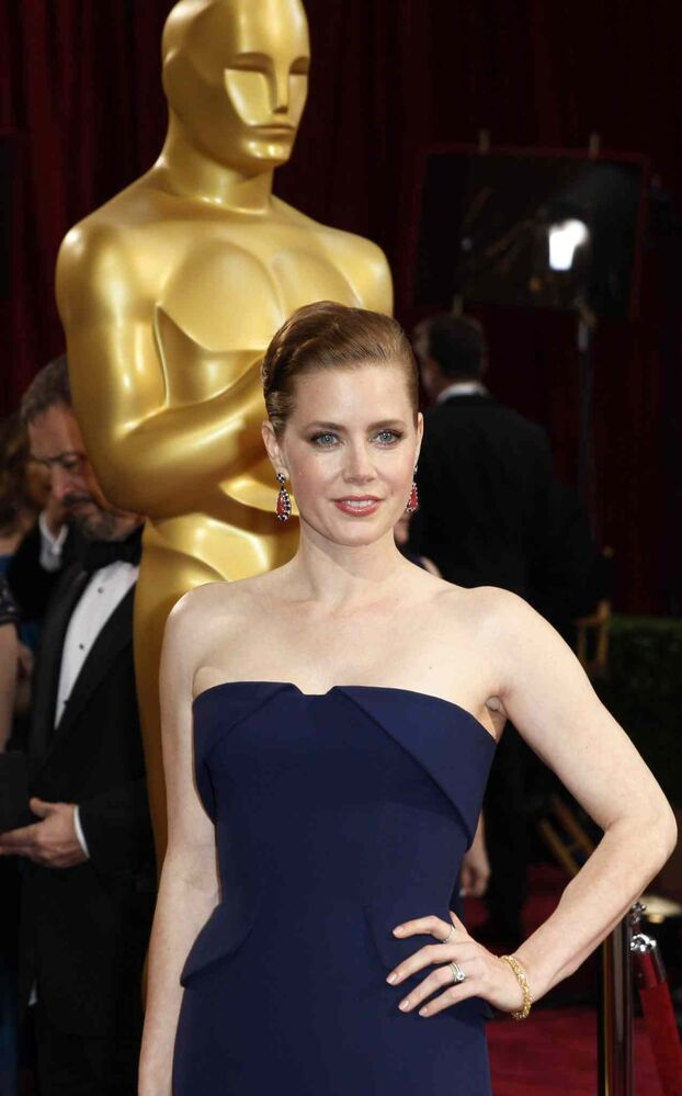 Amy Adams arrives at the 86th annual Academy Awards  at the Dolby Theatre at Hollywood & Highland Center in Los Angeles.  (Allen J. Schaben / Tribune Media MCT)