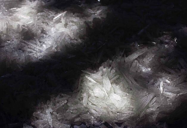 Crystal methamphetamine dries on a table at a seized illegal laboratory in Ensenada, northern Mexico on Aug. 26, 2009. Dane Bourget,36, never thought his life would spiral into addiction but when his roommate brought methamphetamine into their home it started a decade-long journey in and out of treatment centres throughout Manitoba. THE CANADIAN PRESS/AP, Guillermo Arias