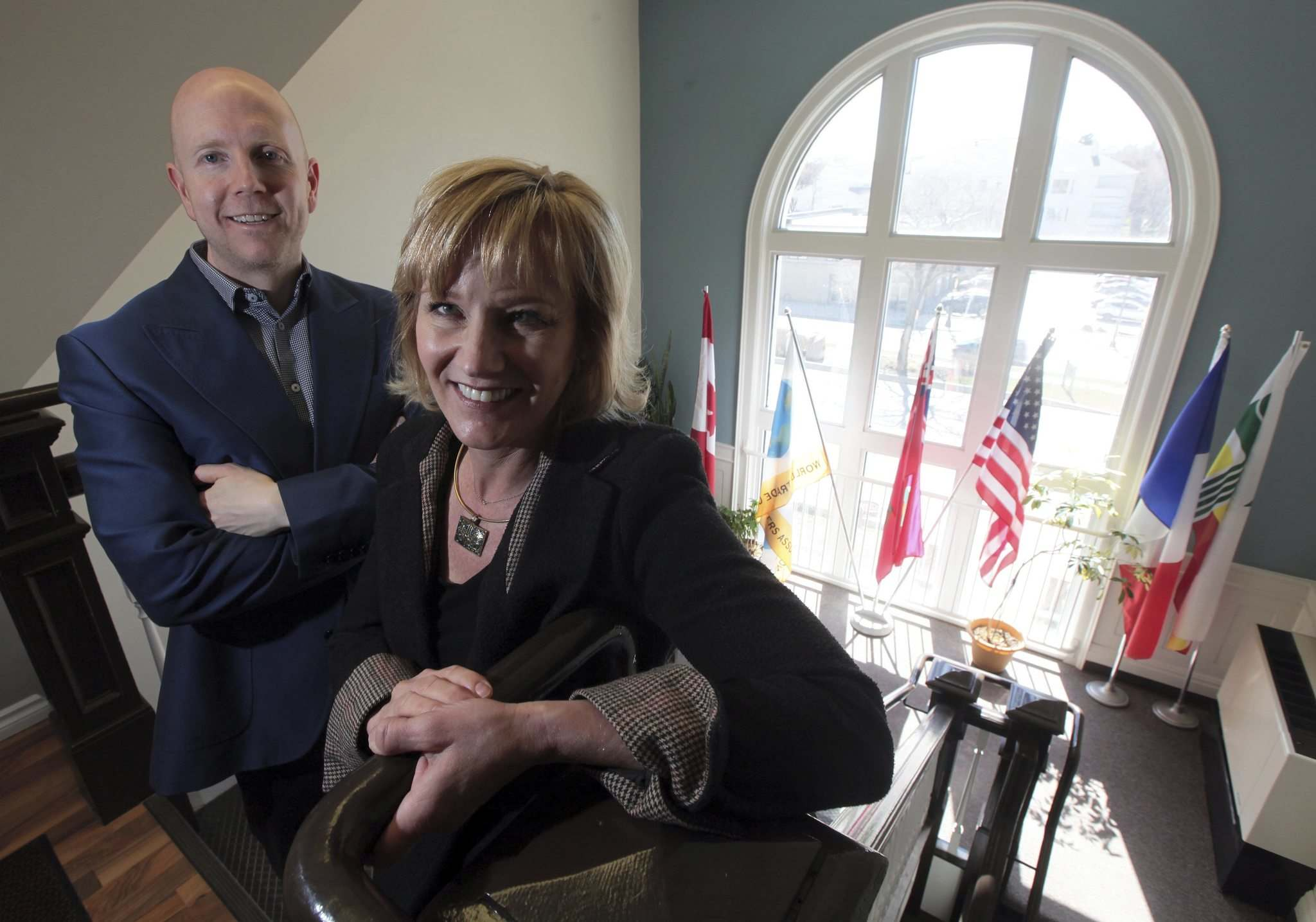 PHIL HOSSACK / WINNIPEG FREE PRESS</p><p>World Trade Centre Winnipeg vice-president Derek Earl (left) and president and CEO Mariette Mulaire are excited about the fourth Centrallia event.</p>